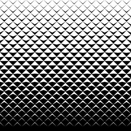 Illustration pour vector tiles pattern. abstract gradient op art seamless monochrome background with rhombus - image libre de droit