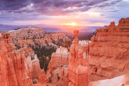 Thor's hammer, Bryce Canyon at sunrise