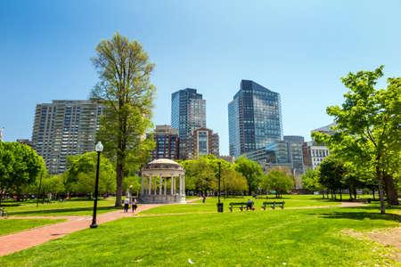 Boston Public Garden in Massachusetts - USA.