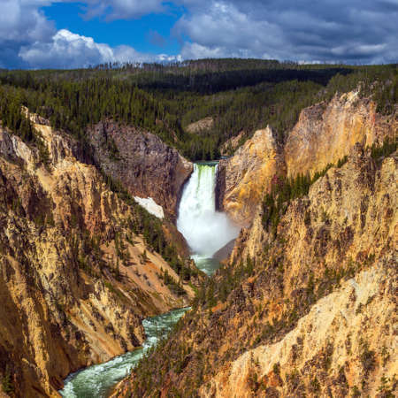 Lower Falls of the Yellowstone from Artist Point, WI USA