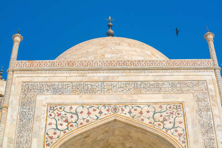 Details of decorations in Taj Mahal, Agra India