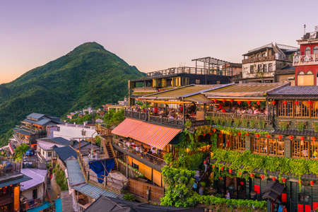 Photo for Top view of Jiufen Old Street in Taipei Taiwan - Royalty Free Image
