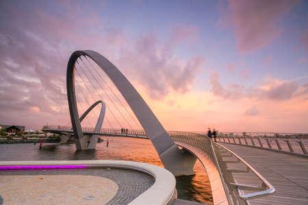 Photo for Elizabeth Quay footbridge in Perth waterfront in western Australia - Royalty Free Image