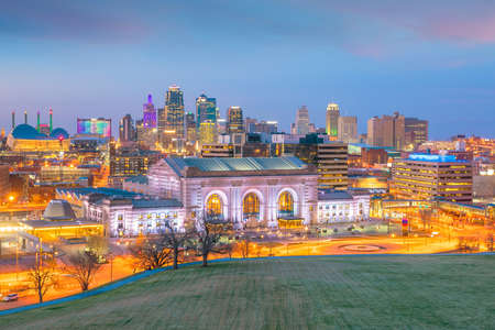 Photo for View of Kansas City skyline in Missouri, United State - Royalty Free Image