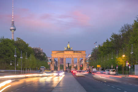 Photo for The Brandenburg Gate in Berlin at sunset, Germany - Royalty Free Image