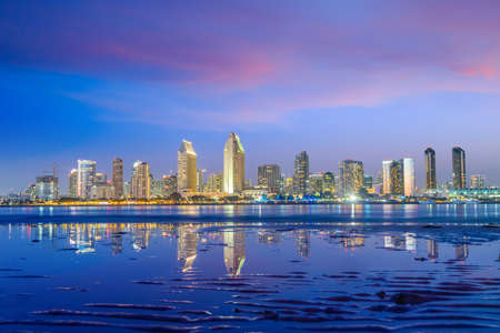 Photo for Downtown San Diego skyline in California, USA at sunset - Royalty Free Image