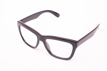 Photo pour Black Eye Glasses Isolated on White - image libre de droit