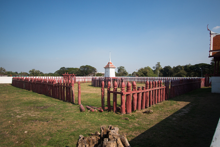 Corral of Thailand ' elephant in history at Ayutthaya .