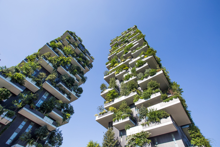 Photo for Bosco Verticale buildings in Milan, Italy - Royalty Free Image