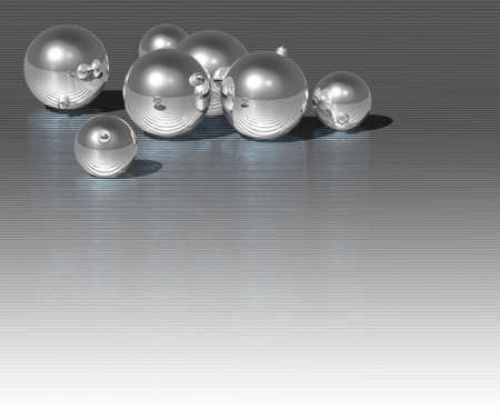 Christmas silver ball on dark metallic background