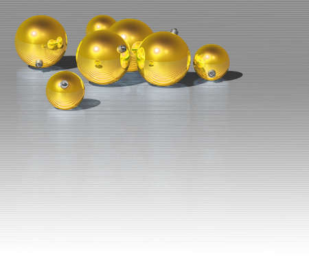 Christmas gold ball on dark metallic background