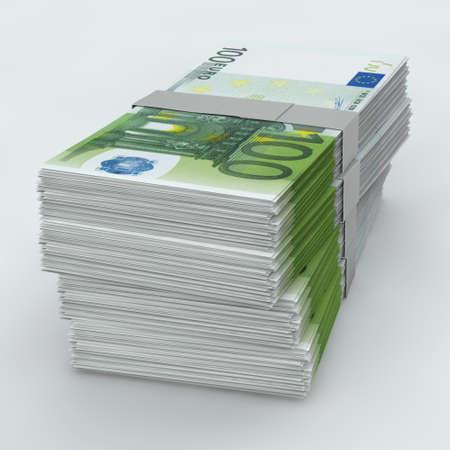 Euro Moneystack frontal view