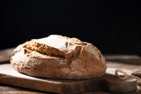 Photo pour Home made bread close up - image libre de droit