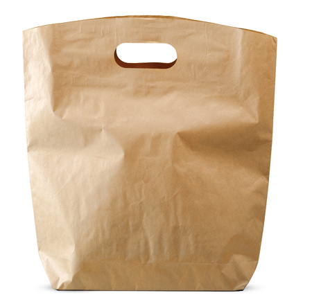 Photo for paper bags isolated on white background - Royalty Free Image