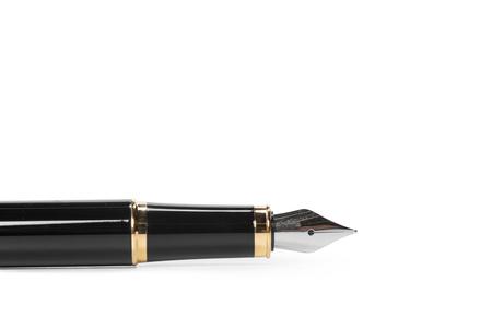 Photo pour fountain pen isolated on white background - image libre de droit