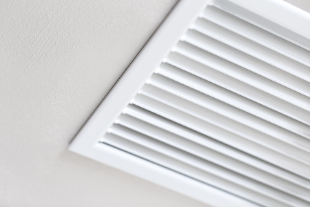 Photo for Close up of vent on the wall. Plastic ventilation grid, piece of home ventilation system. - Royalty Free Image