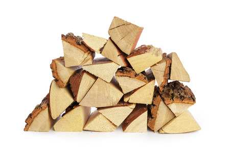 Photo for Pile of firewood isolated on a white background - Royalty Free Image