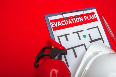 Photo pour Emergency evacuation plan - image libre de droit
