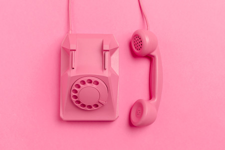 Photo pour vintage phone on color background - image libre de droit