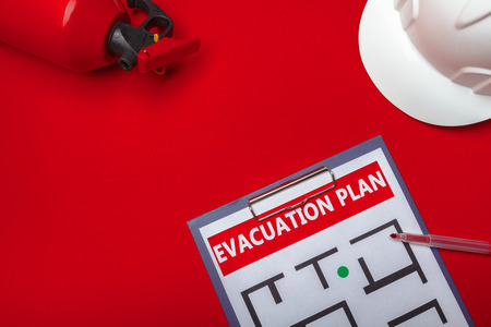 Photo pour Emergency evacuation plan - image libre de droit