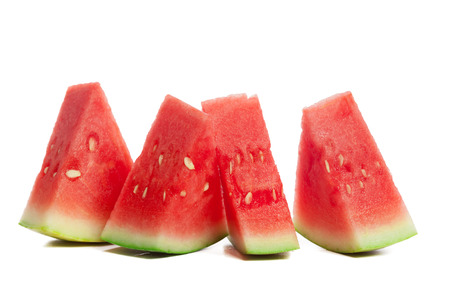 Photo for Slice of watermelon on white background - Royalty Free Image