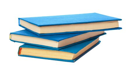 Photo for pile of books isolated on white background - Royalty Free Image
