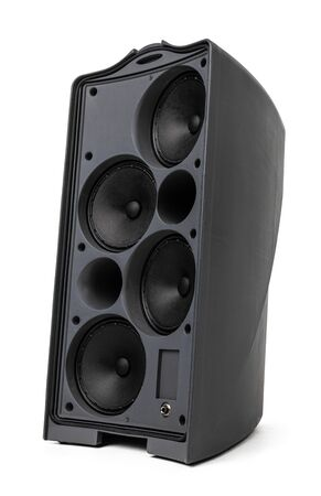 Photo pour Acoustic system audio column isolated on white background - image libre de droit