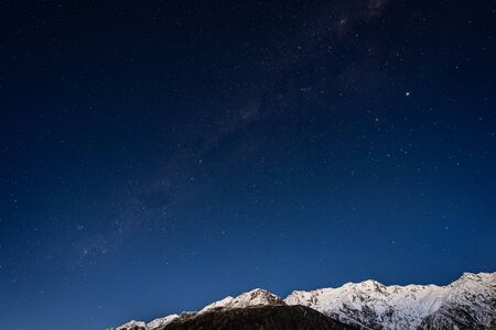 Photo for Starry night with Milky Way at Aoraki National Park, South Island, New Zealand - Royalty Free Image