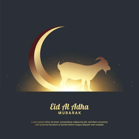 Illustration pour Eid Al Adha Background. Fit for greeting card, poster and other. Vector Illustration. - image libre de droit
