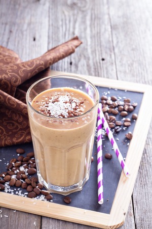 Coconut coffee chocolate smoothie