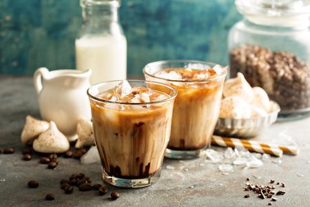 Photo pour Iced coffee with milk - image libre de droit