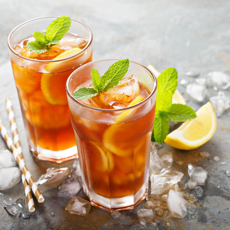Photo for Traditional iced tea with lemon - Royalty Free Image
