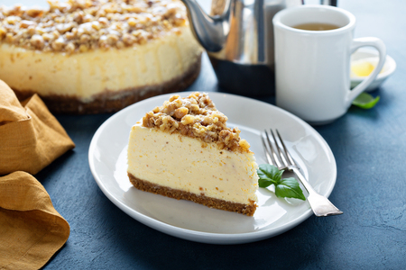 Foto für Pecan caramel cheesecake on the table. - Lizenzfreies Bild