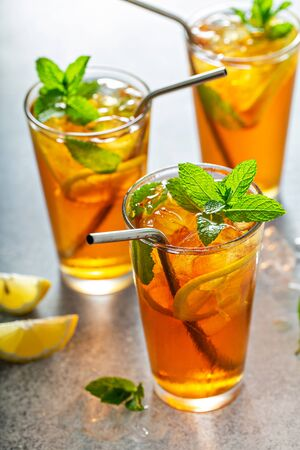 Photo for Refreshing iced tea - Royalty Free Image