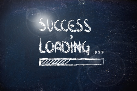 progress bar on blackboard, loading success  sparkle version
