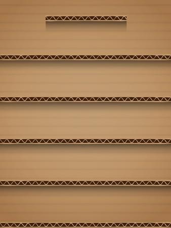 Illustration pour recycle cardboard shelf background interface - image libre de droit