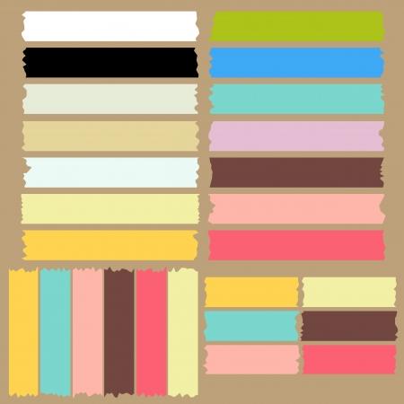 Illustration for color masking tape set - Royalty Free Image