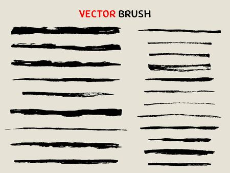 Illustration for hand drawn dry brush stroke collection - Royalty Free Image