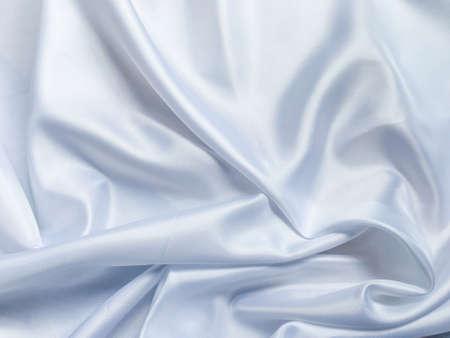 Foto de Smooth white cloth texture background. template wallpaper for wedding or New Year with copy space for design - Imagen libre de derechos