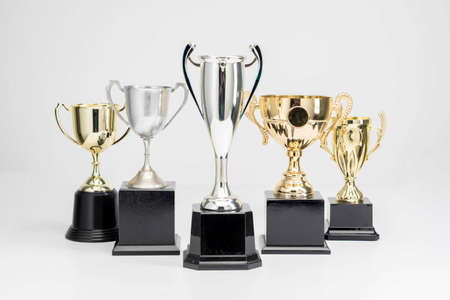 Photo for Trophy Cup on white background - Royalty Free Image