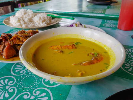 Photo for Malaysian Traditional cuisine, local food called gulai lemak - Royalty Free Image
