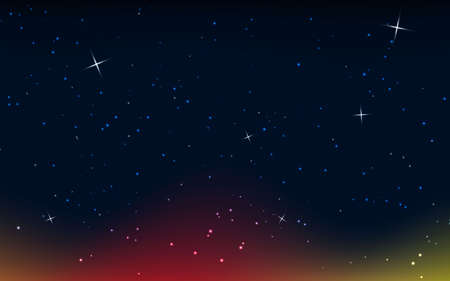 Illustration for Abstract light background. colorful star light. black background. - Royalty Free Image