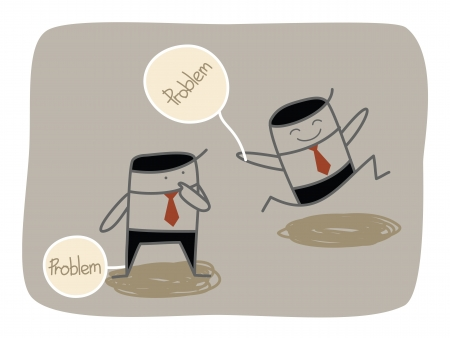 business man dealing with problem
