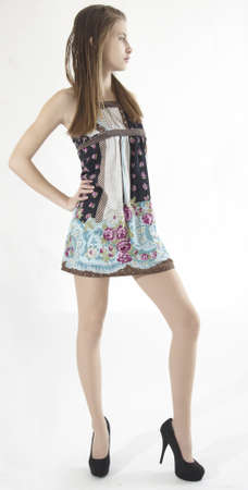e0fff1377 Teen Girl Model in Short Dress and High Heels  Royalty-free images ...