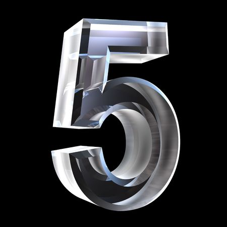 Photo for 3d number 5 (five) in glass - Royalty Free Image