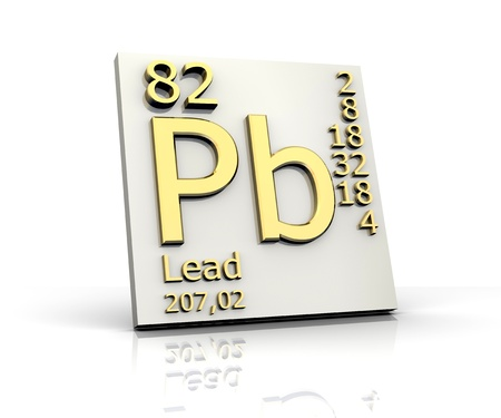 Lead form Periodic Table of Elements - 3d made