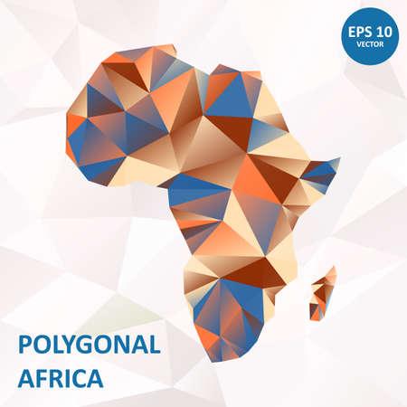 Poligonal map of Africa and Madagascar.