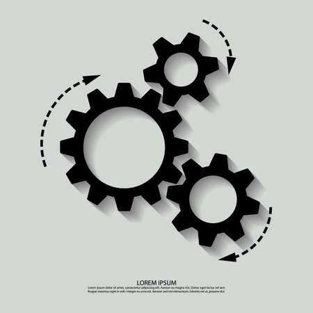 Vector mechanism black white.