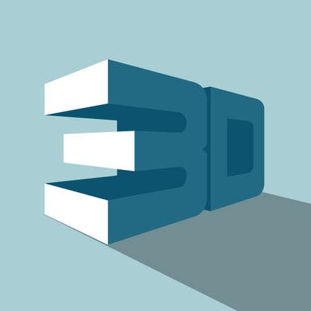 Illustration pour 3D symbol. Isolated on blue background. - image libre de droit
