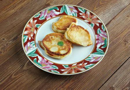 Turkish crumpets with cheese  - Igli pisi.Turkish cuisine
